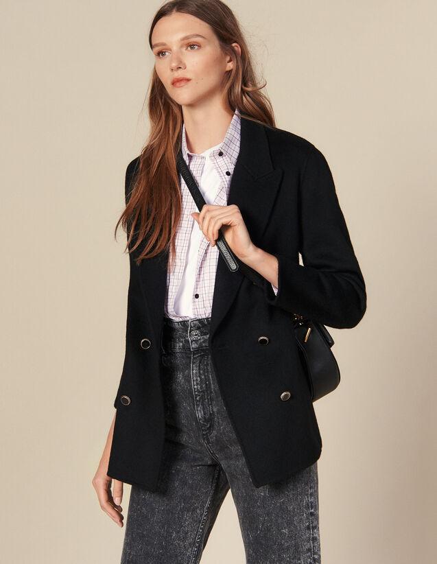 Double-Breasted Wool Blazer : Blazer & Jacket color Black