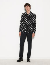 Polka Dot Shirt : Shirts color Black