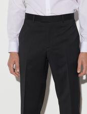 Wool Suit Trousers : Pants & Shorts color Black