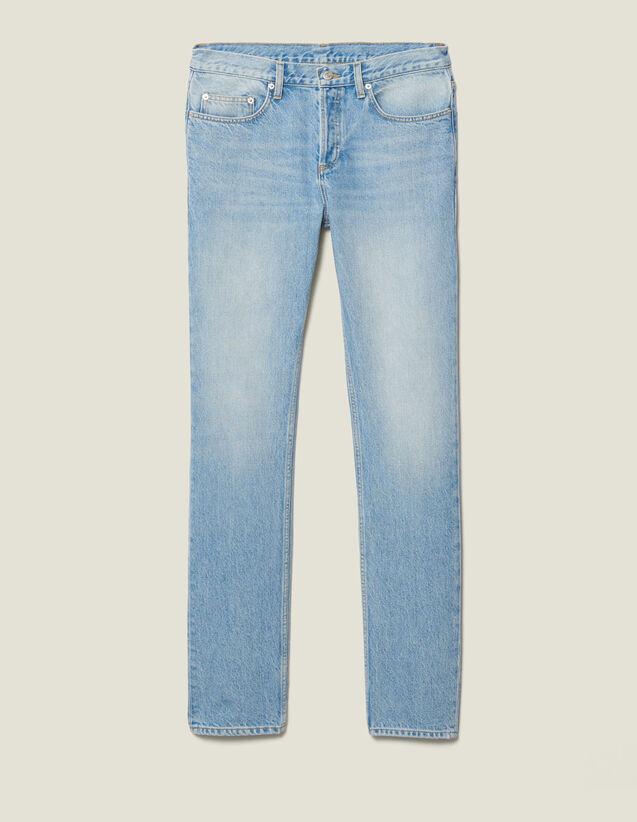 Washed Slim Jeans : Trousers & Jeans color Blue Vintage - Denim