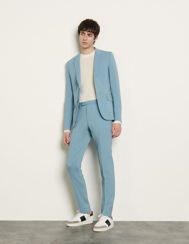 Stretch Suit Trousers : Pants & Shorts color Light Blue