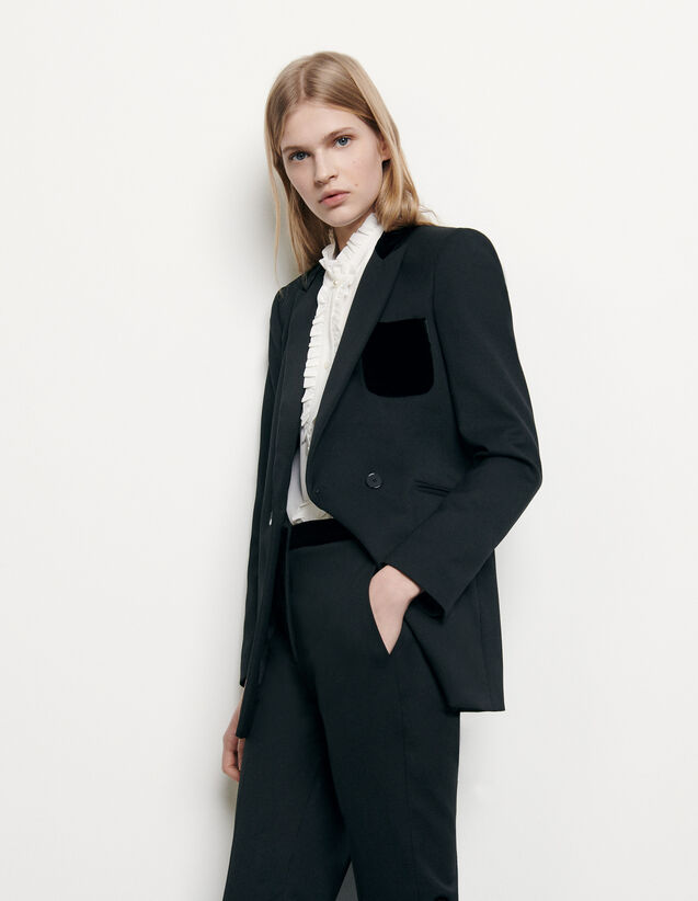 Tailored Jacket : Blazer & Jacket color Black