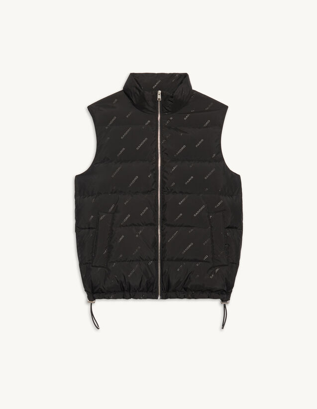 Sleeveless Jacket In Technical Fabric : Trench coats & Coats color Black