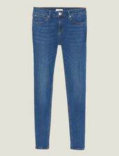 Slim Blue Jeans : Jeans color Blue Vintage - Denim