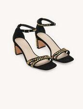 Sandals Finished With Coloured Studs : Pumps & Sandals color Black