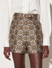 Brocade Shorts : Skirts & Shorts color Multi-Color