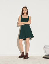 Knitted Skirt With Tassels : Skirts & Shorts color Bottle Green