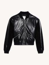 Leather Mix Jacket : Blazer & Jacket color Black