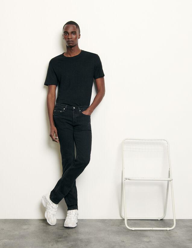 Black Jeans - Skinny Cut : Man essentials color Black