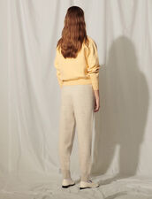Knit Jogging Bottoms With Embroidery : Pants color Mocked Grey