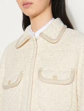 Tweed Jacket With Quilting : Blazer & Jacket color Ecru