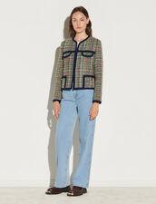 Multicoloured Tweed Jacket : Blazer & Jacket color Multi-Color