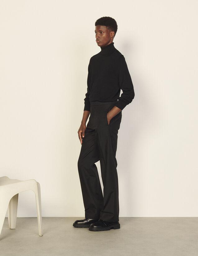 Virgin Wool Classic Trousers : Pants & Shorts color Black
