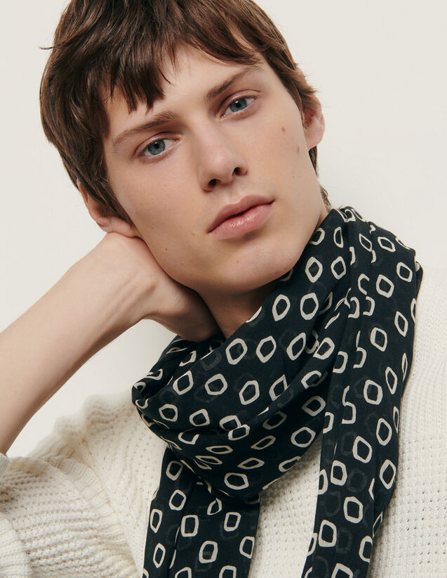 Printed Scarf : Scarf color Ivory