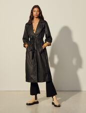 Flowing Trench Coat : Coats color Black