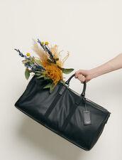 Travel Bag : Leather Goods color Black