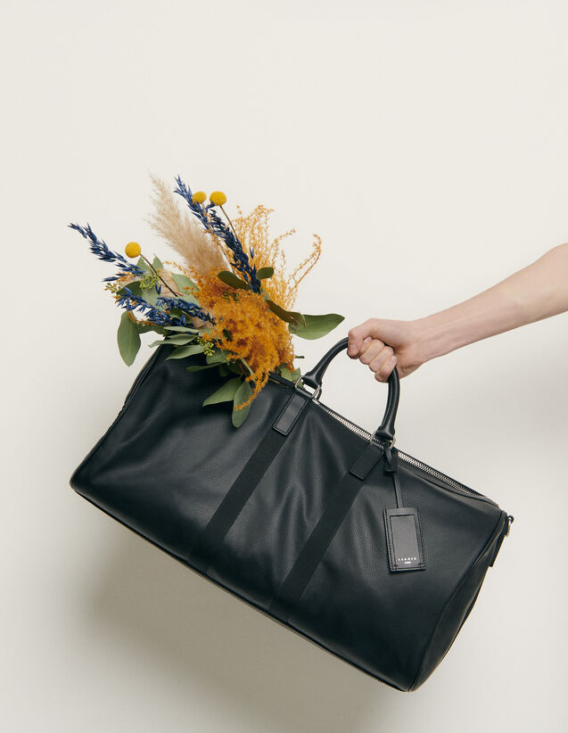 Travel Bag : Leather Goods color Black