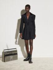 Short Tailored Jacket Effect Dress : Dresses color Black