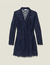 Lace Coat Dress : Dresses color Navy Blue