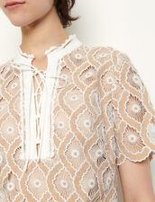 Short Broderie Anglaise Dress : Dresses color Beige