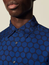 Flowing Patterned Shirt : Shirts color Circles Navy-turquoise