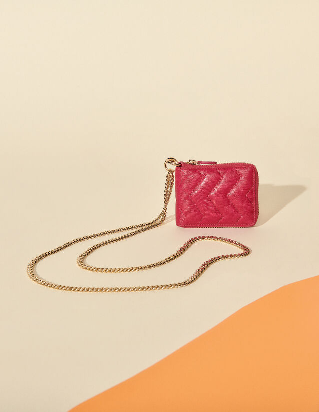 Leather Purse : Other accessories color Fushia