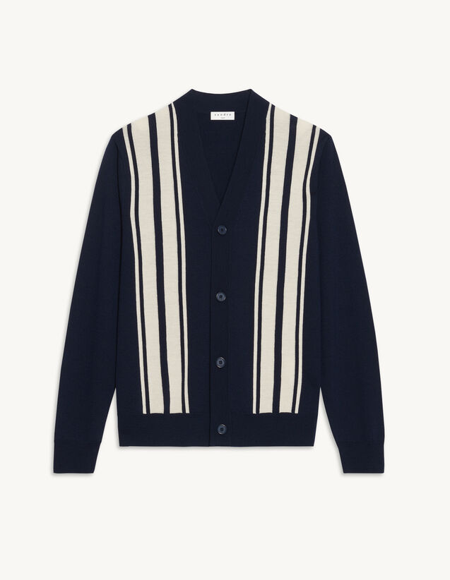 Buttoned Cardigan : Sweaters & Cardigans color Navy Blue