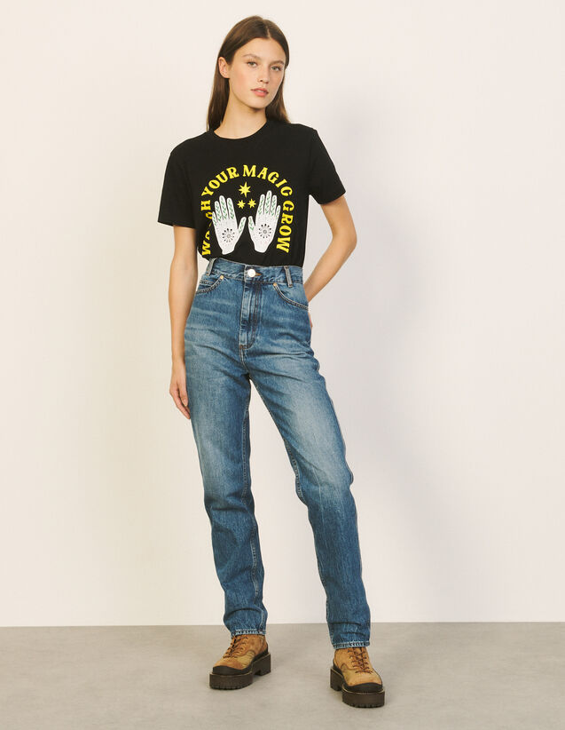 Faded Jeans : Jeans color Blue Jean